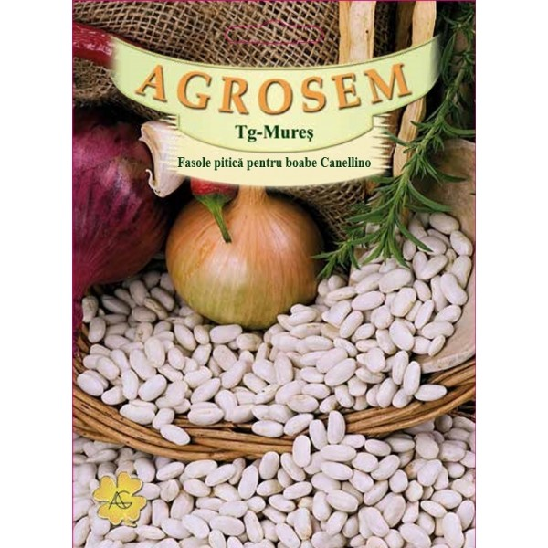 Seminte de fasole pitica boabe Cannellino, 1 Kg, Agrosem