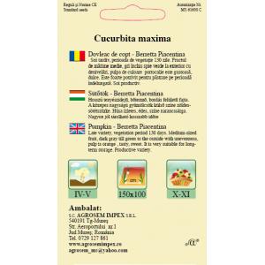 Seminte de dovleac pentru copt Beretta Piacentina, 2 grame