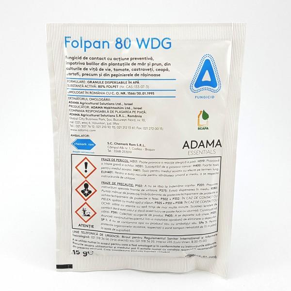 Fungicid Folpan 80 WDG, 15 grame, Adama