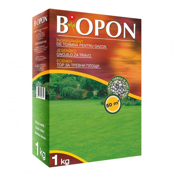Ingrasamant granulat de toamna pentru gazon, 1 kg, Biopon
