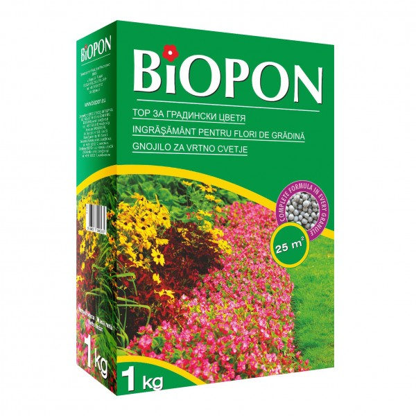 Ingrasamant granulat pentru flori de gradina 1 kg, Biopon