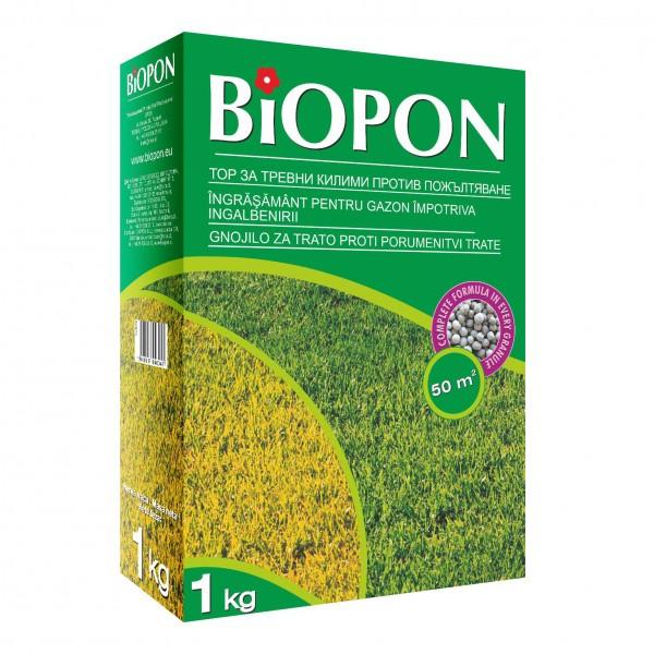 Ingrasamant granulat pentru gazon anti-ingalbenire 1 Kg, Biopon