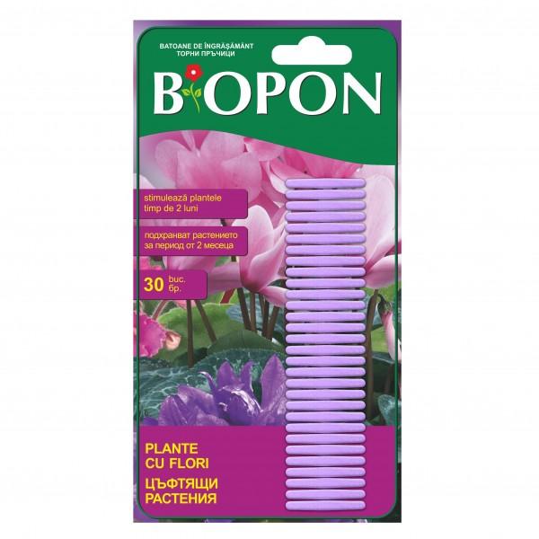 Ingrasamant pentru plante cu flori, tip sticks, 30 bucati/set, Biopon
