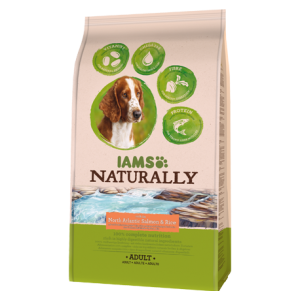 IAMS, mancare naturala pt. caini adulti cu somon si orez, 2,7 Kg