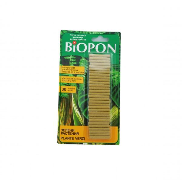 Ingrasamant pentru plante verzi tip sticks, 30 bucati/set, Biopon