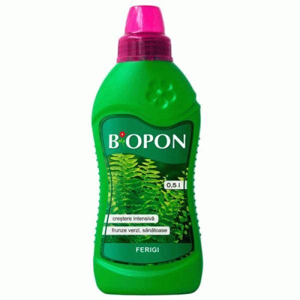 Ingrasamant lichid pentru ferigi, 0,5 litri, Biopon