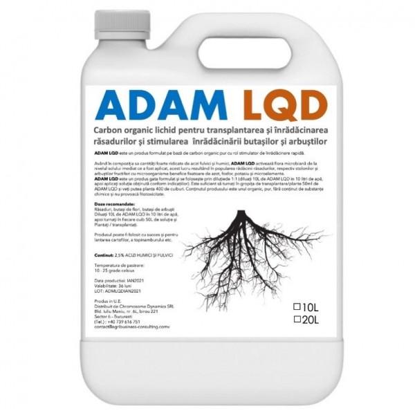 Biostimulator de inradacinare pentru rasaduri, butasi si arbusti fructiferi Adam LQD, 10 litri, SemPlus