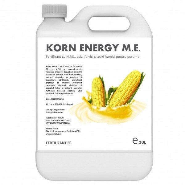 Fertilizant cu NPK, acizi humici si acizi fulvici pentru porumb, Korn Energy M.E., 10 litri, SemPlus