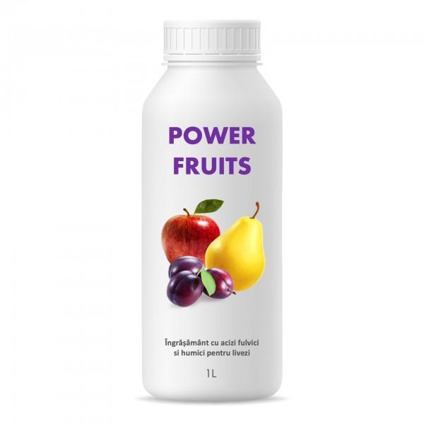 Ingrasamant cu humat de potasiu pentru livezi, Power Fruits, 1 litru, SemPlus