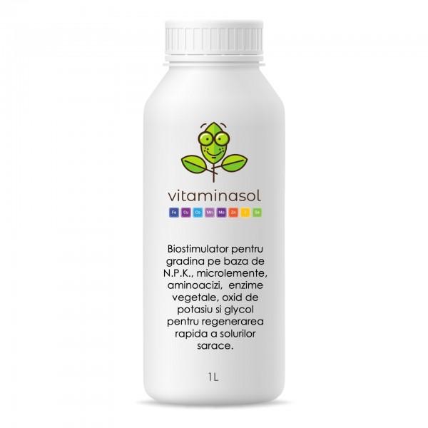 Biostimulator cu rol de regenerare si vitaminizare a solurilor sarace, Vitaminasol 1 litru, SemPlus