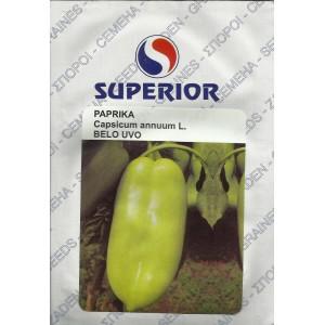 Seminte de ardei kapia Belo Uvo, ureche de elefant alba, 50 grame, Superior Seeds