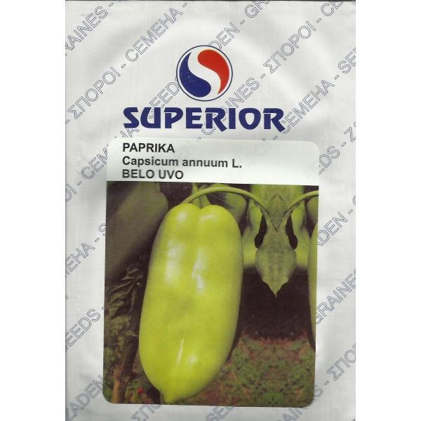 Seminte de ardei kapia Belo Uvo, ureche de elefant alba, 100 grame, Superior Seeds