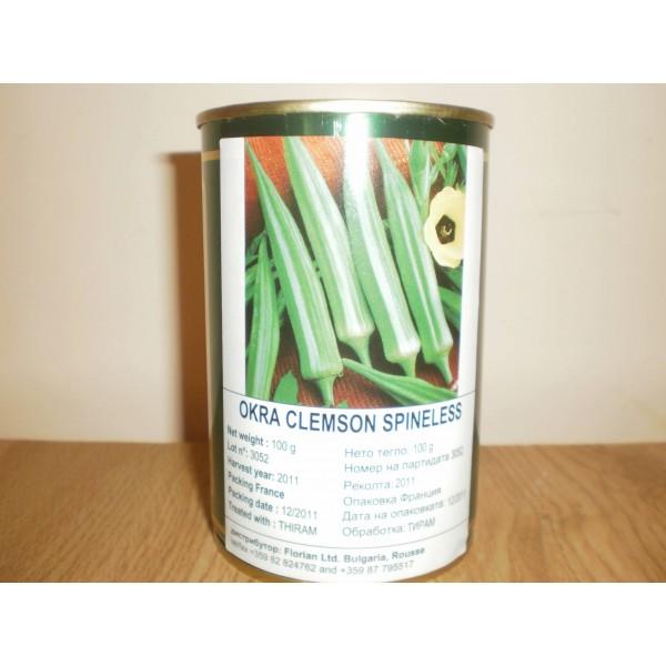 Seminte de bame Clemson, cutie metalica, 100 grame
