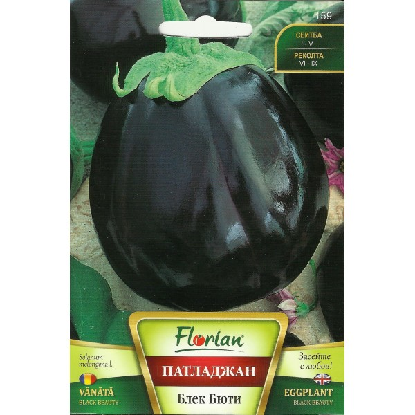 Seminte de vinete Black Beauty, Florian, 50 grame