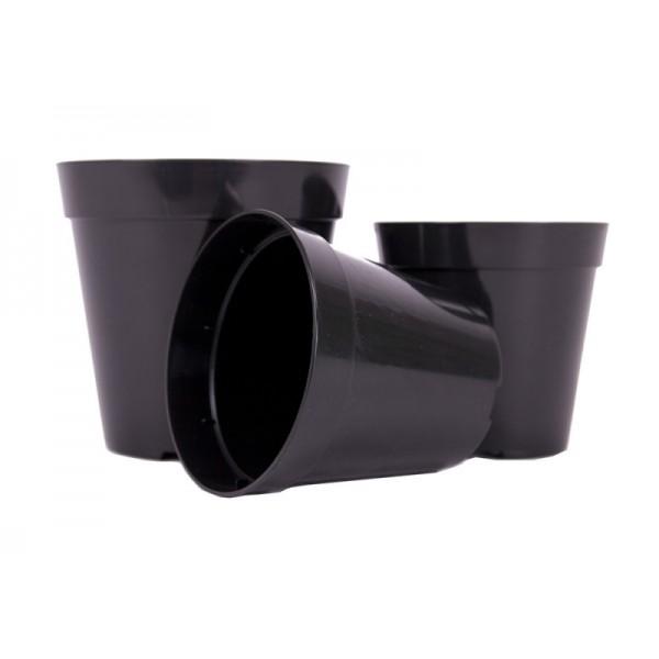 Ghivece pentru sere, culoare negru, diametru 100 mm, volum 0,45 litri