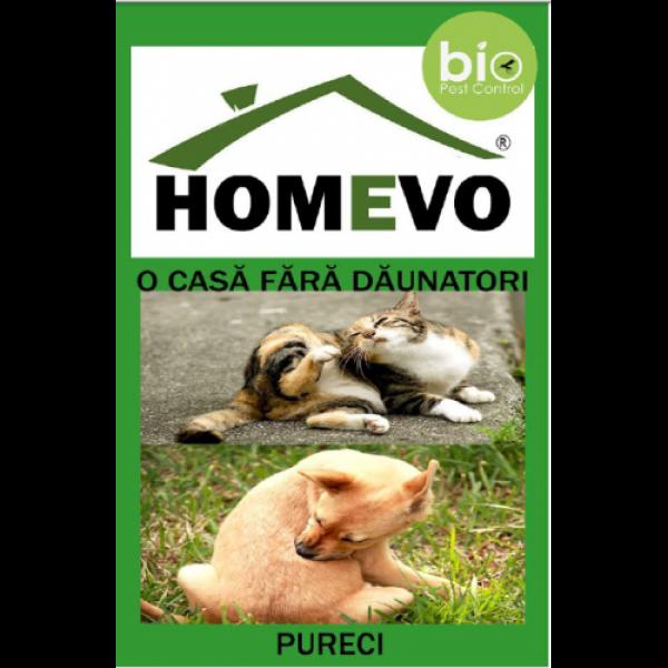 Pulbere antipureci bio pentru animale, homevo, 50 grame