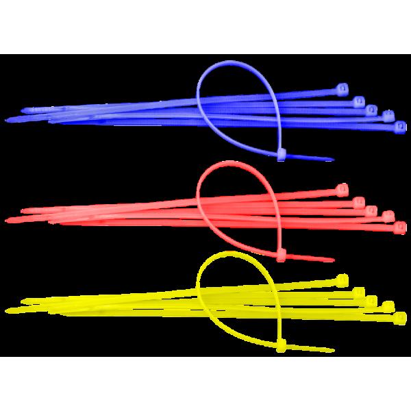 Colier din plastic, culoare galben, latime 2,5 mm, lungime 100 mm, 100 bucati, Sapiselco