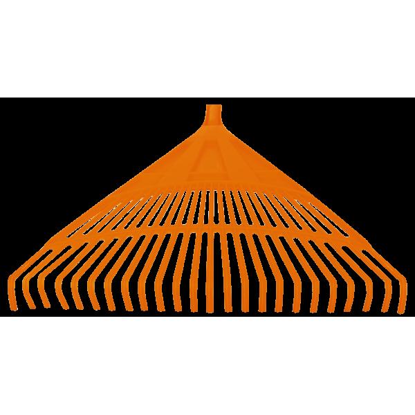 Grebla din plastic pentru frunze, 24 dinti, latime 600 mm, Evotools