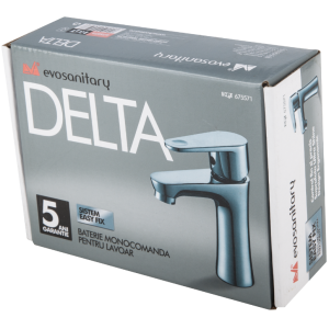 Baterie tip Delta pentru lavoar, lungime 95 mm, inaltime 153 mm, inaltime utila 95 mm, Evosanitary
