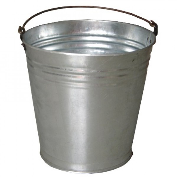 Galeata zincata din tabla, grosime 0,3 mm, volum 10 litri, Evotools