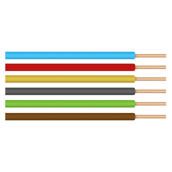 Conductor monofilar electric tip FY / S[mmp]: 1.5; C: rosu, 1 metru