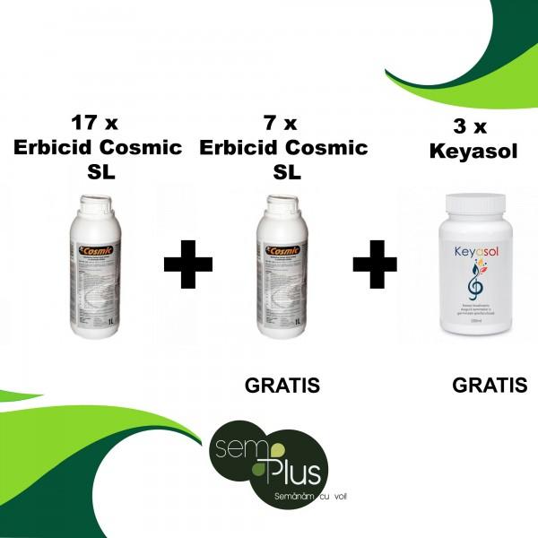 Pachet promotional Erbicid Cosmic SL, 1 litru, 17 bucati + 7 bucati GRATIS