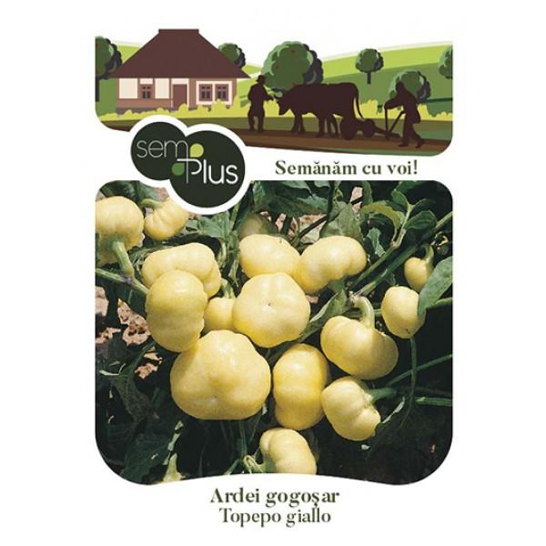 Seminte de ardei gogosar topepo giallo, 0,8 grame, SemPlus