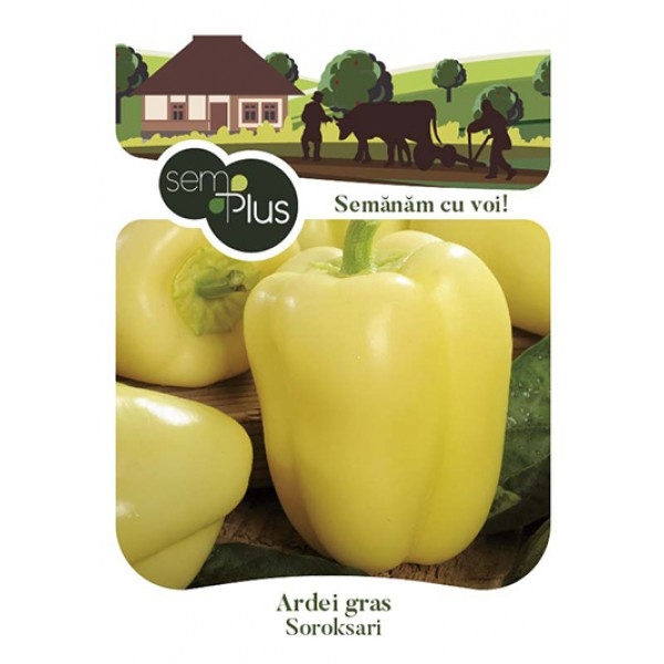 Seminte de ardei gras Soroksari, 1,5 grame, SemPlus
