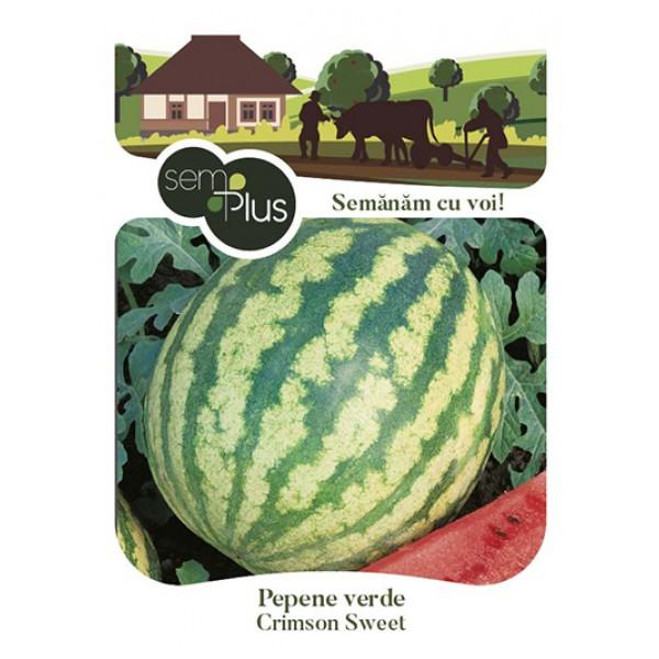 Seminte de pepene verde Crimson Sweet, 2 grame, SemPlus
