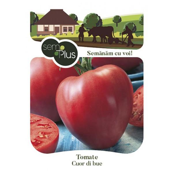 Seminte de tomate inima de bou, 1 gram, SemPlus
