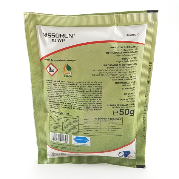 Insecto-Acaricid Nissorum 10 WP - 50 grame