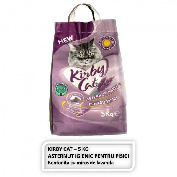 Asternut igienic Kirby Cat cu miros de Lavanda pentru pisici - 5 Kg