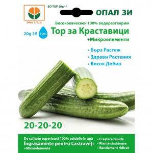 Ingrasamant pentru castraveti, de tip NPK, 20-20-20 + microelemente, 20 grame
