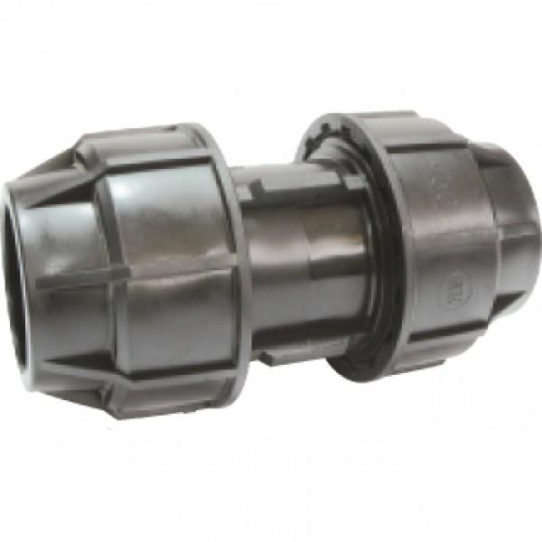 Mufa compresie pentru sisteme de irigat, diametre 25 mm x 25 mm, Palaplast
