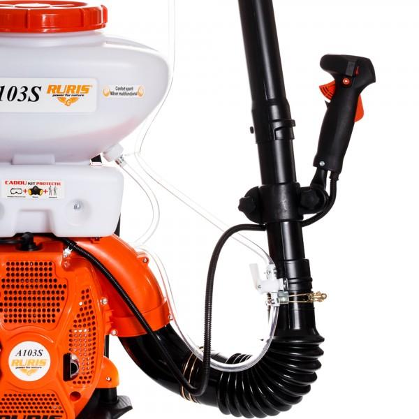 Atomizor Ruris A103S, 3 CP, motor TEZ, 2 timpi, 1.4 l, benzina, accesorii incluse