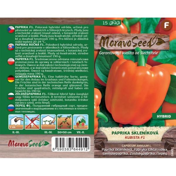 Seminte de ardei gras Kubista F1, 15 seminte, Moravo Seed