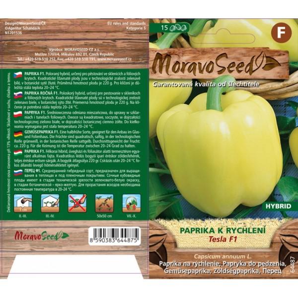 Seminte de ardei gras Tesla F1, 15 seminte, Moravo Seed
