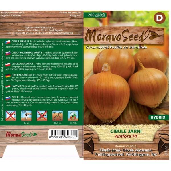 Seminte de ceapa Amfora F1, 200 seminte, Moravo Seed