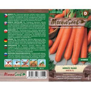 Seminte de morcovi Aneta F1, 1000 seminte, Moravo Seed