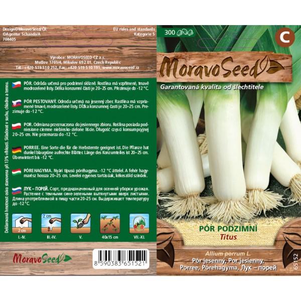 Seminte de praz Titus, 300 seminte, Moravo Seed