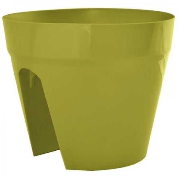 Ghivece pentru balcon, culoare verde, diametru 28 cm