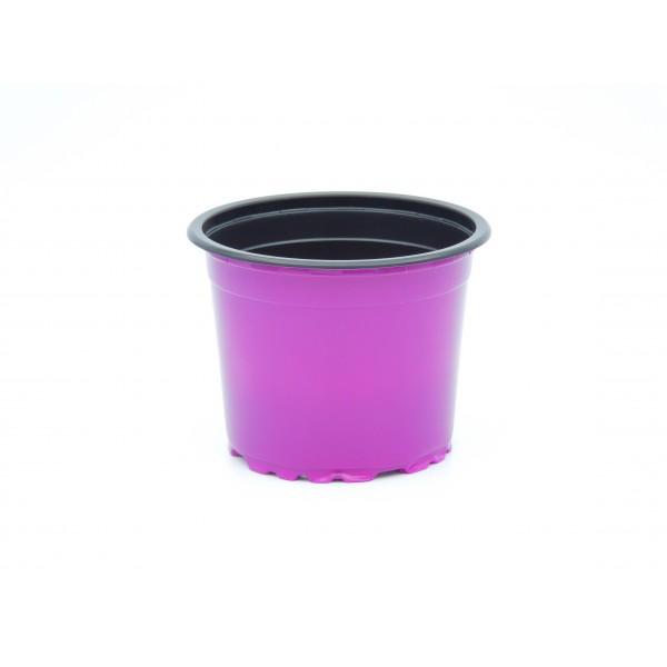 Ghivece de lucru rotunde, seria VCG, culoare violet, diametru 9 cm, Teku