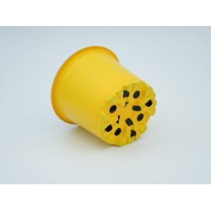 Ghivece de lucru rotunde VCG, culoare galben, diametru 10,5 cm, Teku