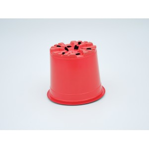 Ghivece de lucru rotunde VCG, culoare rosu, diametru 10,5 cm