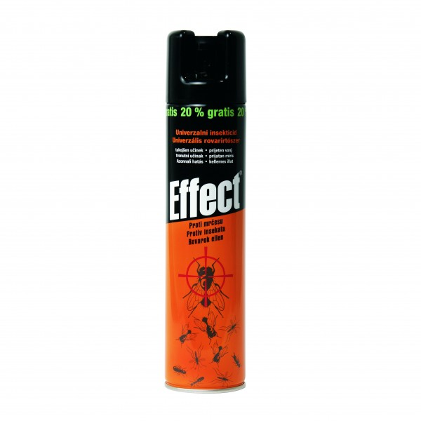 Insecticid universal aerosol, 400 ml, Effect