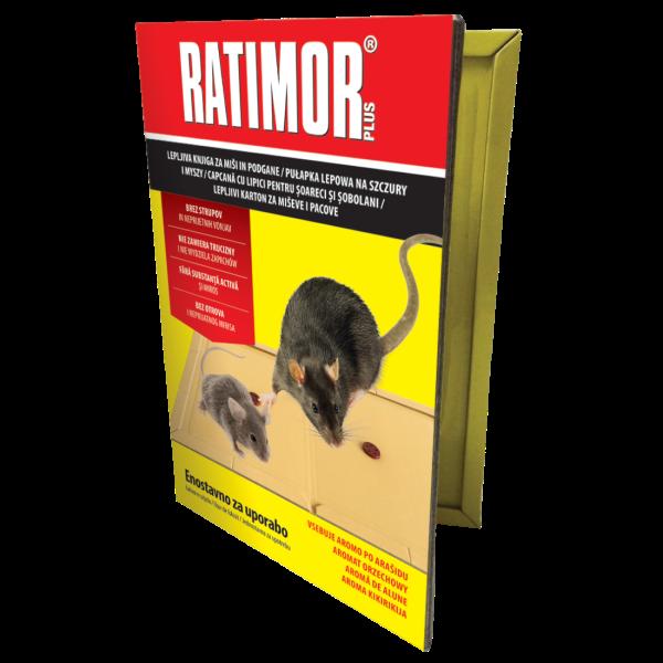 Ratimor Plus, capcana adeziva pentru rozatoare, cu aroma de alune